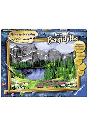 Ravensburger Malen nach Zahlen »Sommerliche Bergidylle«, Made in Europe, FSC® -... kaufen
