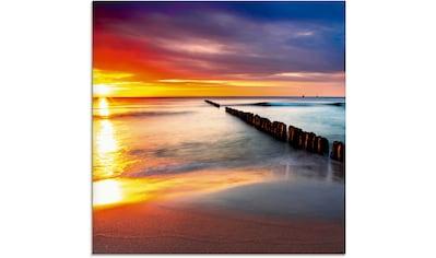 Artland Glasbild »Ostsee mit schönem Sonnenaufgang«, Strand, (1 St.) kaufen