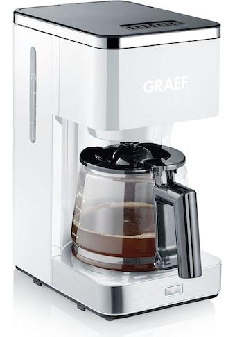 Graef Filterkaffeemaschine FK 403 mit Glaskanne, rot, Papierfilter 1x4 kaufen