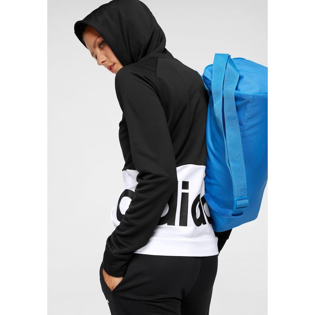 adidas Performance Trainingsanzug »WOMEN TRACKSUIT LINEAR FRENCH TERRY«, (Set, 2 tlg.)