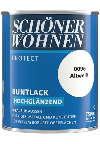 SCHÖNER WOHNEN FARBE Lack »Protect Buntlack«, hochglänzend, 750 ml, altweiß kaufen