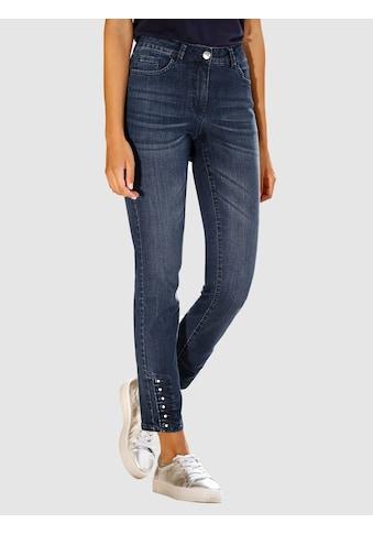 Laura Kent Slim-fit-Jeans, mit Ziersteinen am Saum kaufen