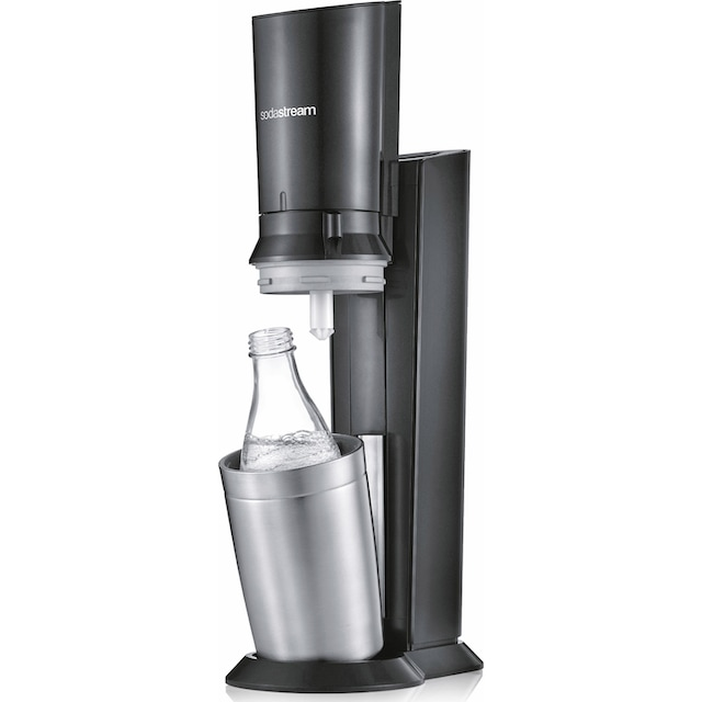 "SodaStream Wassersprudler ""CRYSTAL 2.0 titan"" (5-tlg., 1 Wassersprudler, 3 Glaskaraffe, 1 Zylinder)"