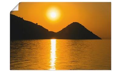 Artland Wandbild »Sonnenuntergang V«, Gewässer, (1 St.), in vielen Größen &... kaufen