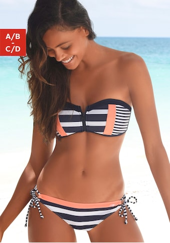 KangaROOS Bandeau-Bikini-Top »Anita«, mit Reißverschluss zwischen den Cups kaufen