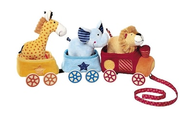 Sigikid Nachziehtier »PlayQ, Safari-Zug«, Waschbar (Holzteile vor dem Waschen entfernen) kaufen