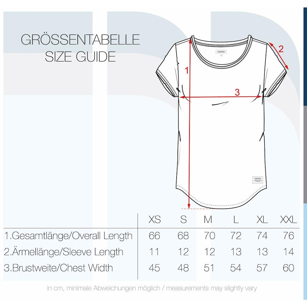 OXMO T-Shirt »Lydi«, Kurzarmshirt mit Rollkanten