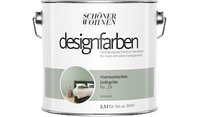 SCHÖNER WOHNEN FARBE Farbe »Designfarben«, Harmonisches Jadegrün Nr. 29, feinmatt 2,5 l kaufen