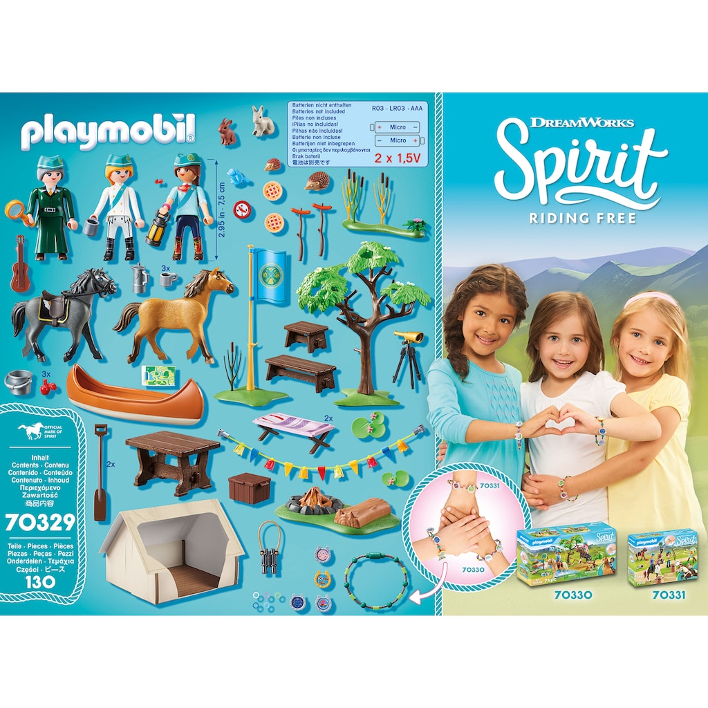 Playmobil® Konstruktions-Spielset »Sommercamp (70329), Spirit Riding Free«, ; Made in Germany