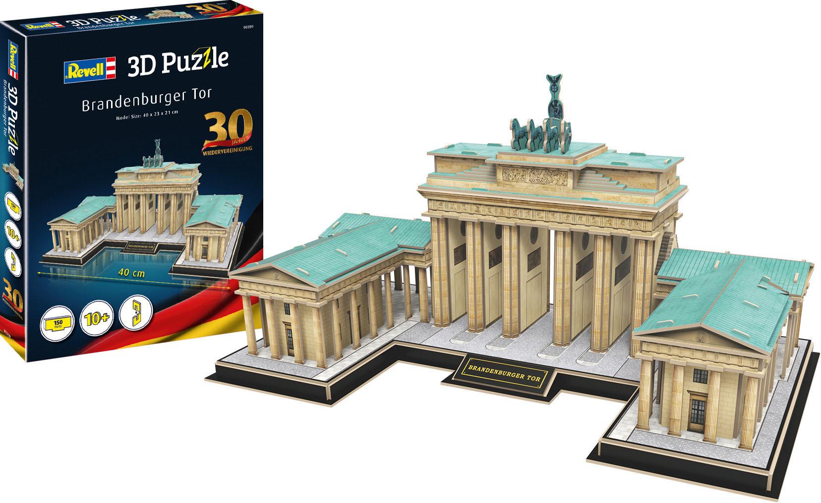 Revell 3D-Puzzle Brandenburger Tor braun Kinder 3D Puzzle Gesellschaftsspiele