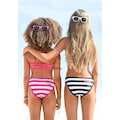 Bench. Bandeau-Bikini, mit trendigen Streifen