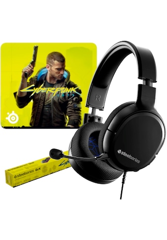 SteelSeries Gaming-Headset »Bundle Arctis 1 (PS5) + QcK Large Cyberpunk Edition« kaufen