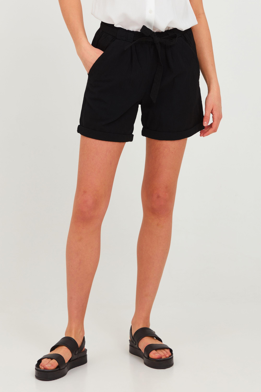 OXMO Chinoshorts Lina, (mit Gürtel), mit Gürtel schwarz Damen Kurze Hosen
