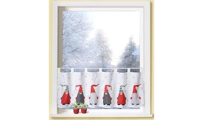Scheibengardine, »Weihnachtswichtel«, Weckbrodt, Schlaufen 1 Stück kaufen