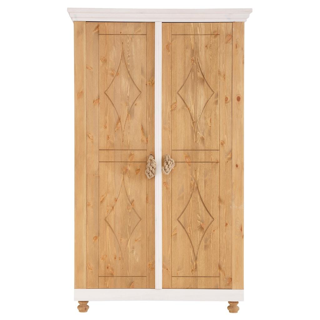 """Home affaire Kleiderschrank »Hadar«, Kleiderschrank """"Hadar"""" aus Kiefer massiv, Höhe 201,5 cm"""