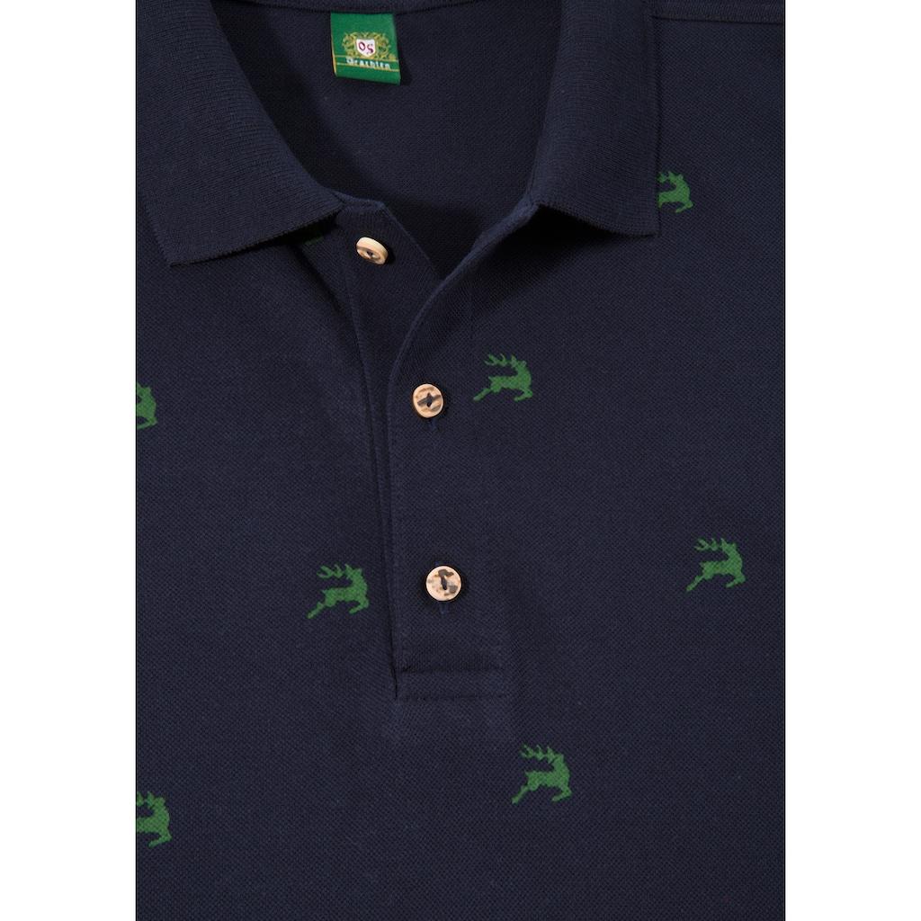OS-Trachten Trachtenshirt, mit Allover Print