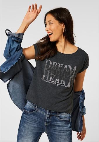 STREET ONE Print-Shirt, mit Wording-Print kaufen
