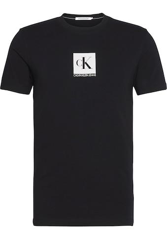 Calvin Klein Jeans T - Shirt »CENTER MONOGRAM BOX SLIM TEE« kaufen
