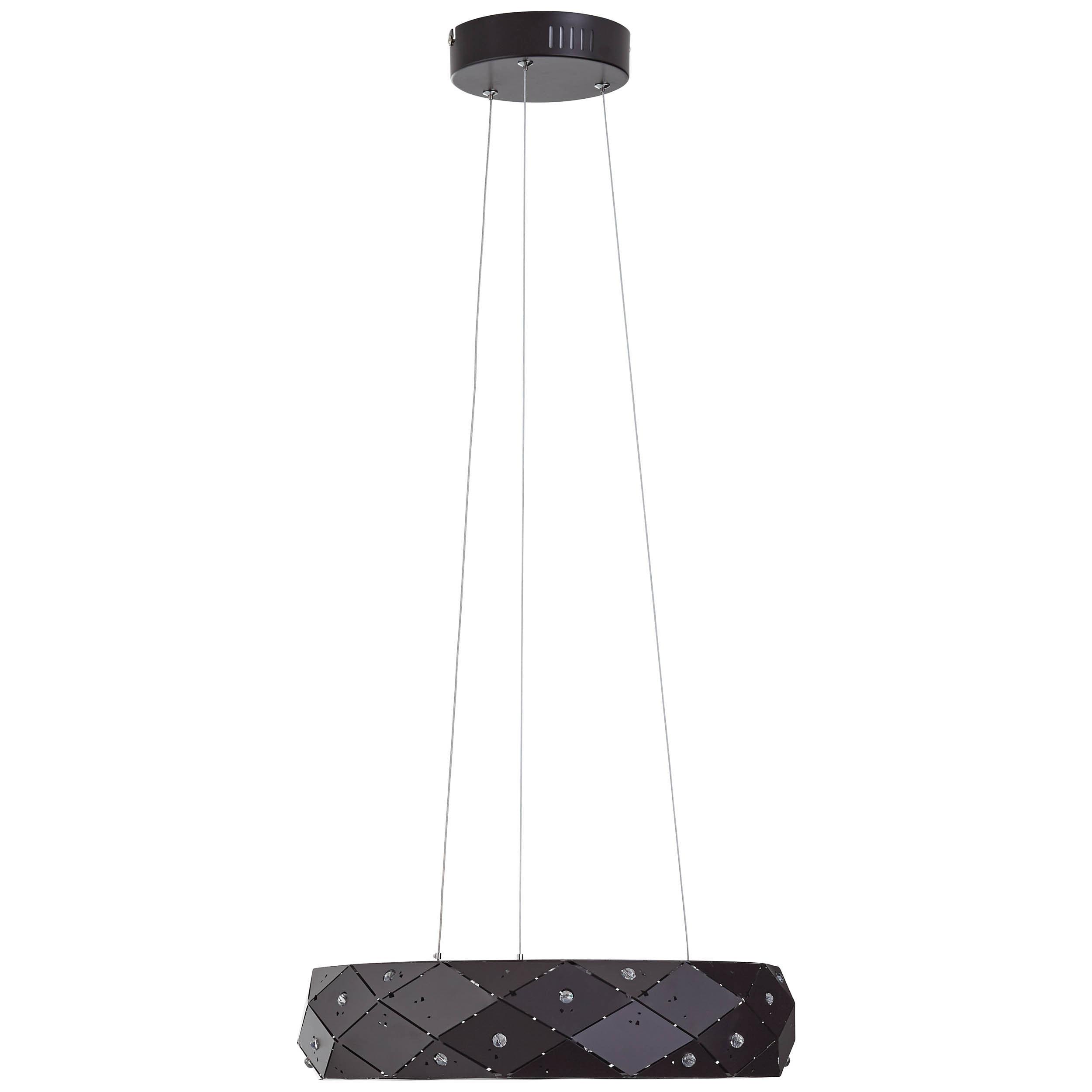 Brilliant Leuchten Fona LED Pendelleuchte 45cm braun/Kaffee