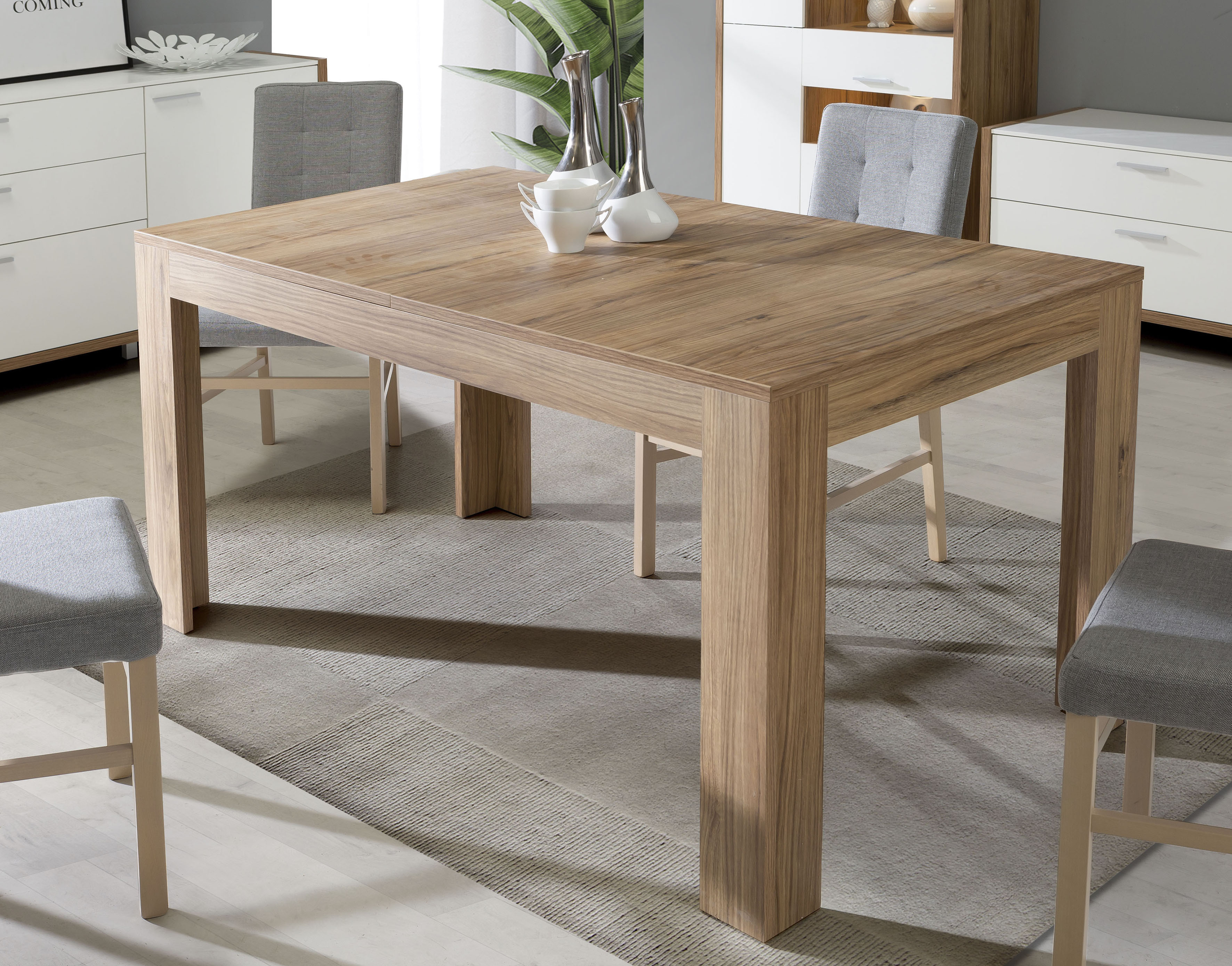FORTE Esstisch, ausziehbar von 160 auf 206 cm beige Esstisch Ausziehbare Esstische Tische