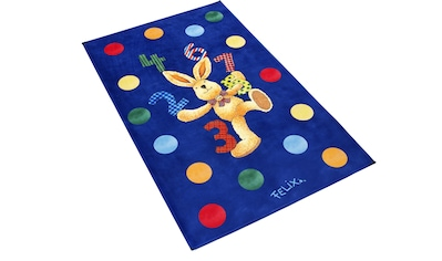 Felix der Hase Kinderteppich »FE-413«, rechteckig, 6 mm Höhe, Stoff Druck, weiche Mircofaser kaufen