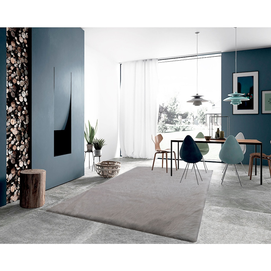 LeGer Home by Lena Gercke Fellteppich »Lenja«, rechteckig, 60 mm Höhe, Kunstfell, Wohnzimmer