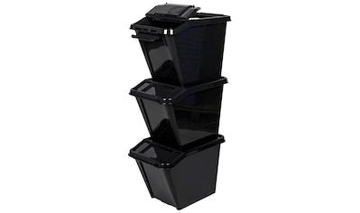 KREHER Aufbewahrungsbox 3 Stk., je ca. 40x65x44 cm (BxTxH) kaufen