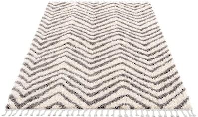 Carpet City Hochflor-Teppich »Pulpy 531«, rechteckig, 30 mm Höhe, mit Fransen, Wohnzimmer kaufen