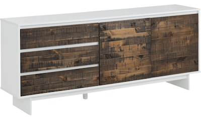Home affaire Sideboard »Morgan«, aus massivem Kiefernholz, mit eingefrästen... kaufen