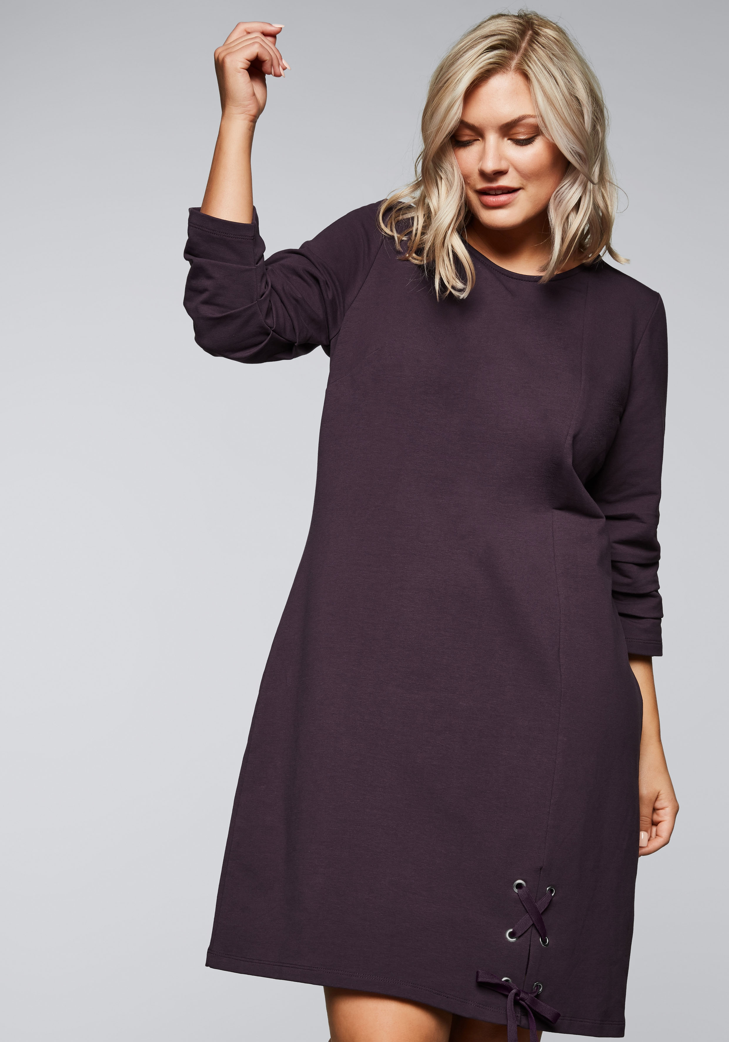 Sheego Sweatkleid Damenmode/Bekleidung/Kleider/Sweatkleider