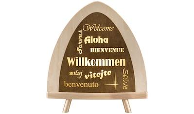 Weigla LED Dekolicht »Willkommen«, 1 St., Neutralweiß, beidseitiges Motiv/ LED /... kaufen