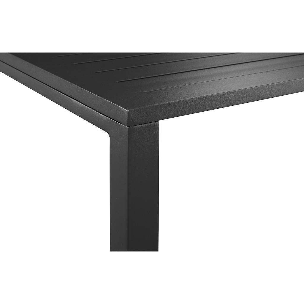 KONIFERA Loungeset »Dubai«, (14 tlg.), Ecklounge, Tisch 1x59 cm, Aluminium