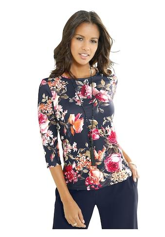 Lady Shirt mit Blumen - Muster allover kaufen