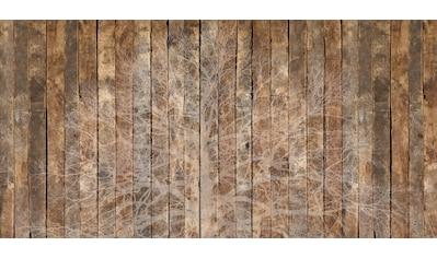 Architects Paper Fototapete »Oak Silhouette«, Holz Optik, Holzplanken, Vlies, glatt kaufen