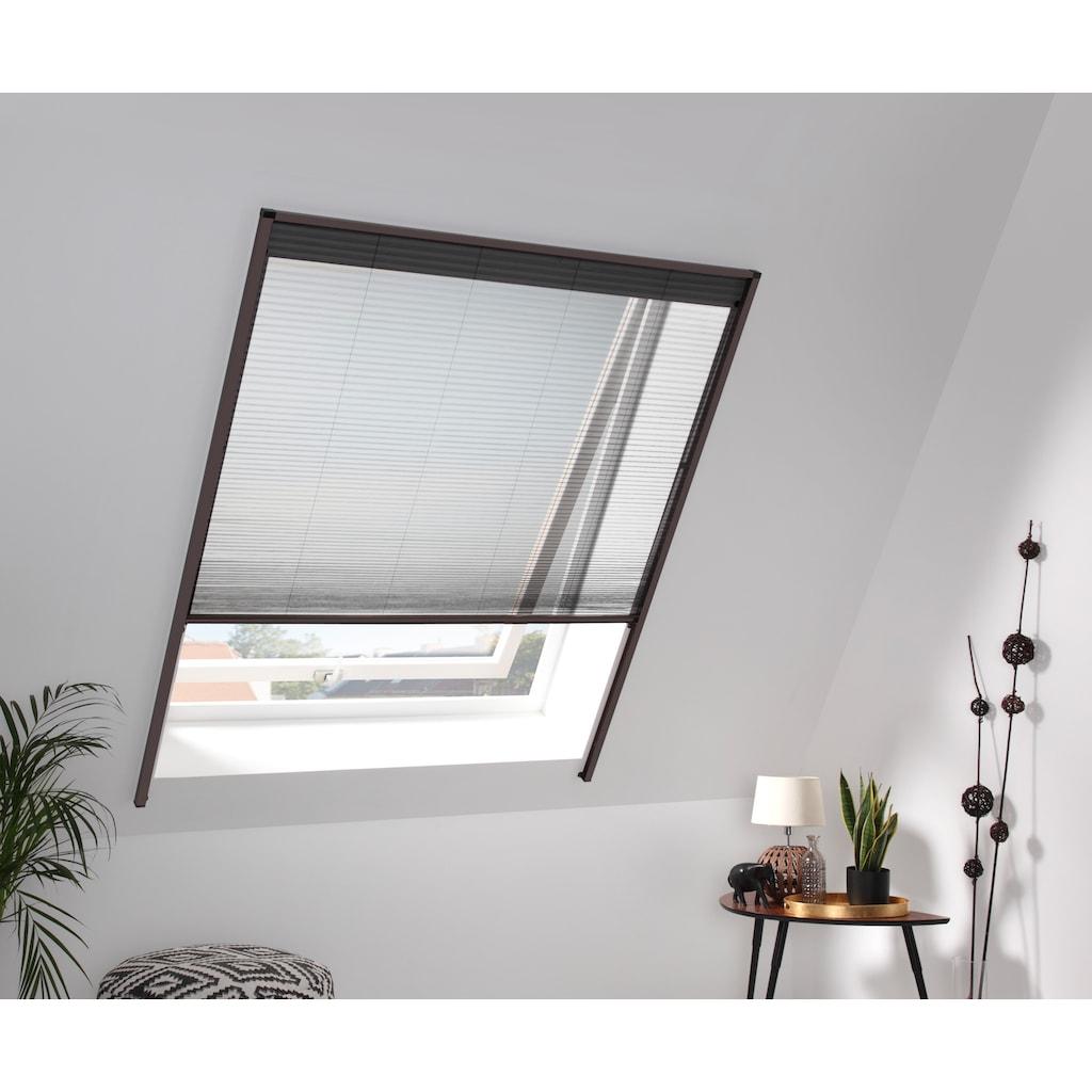 hecht international Insektenschutz-Dachfenster-Rollo, braun/schwarz, BxH: 160x180 cm