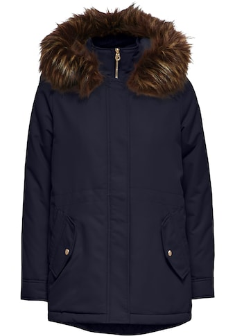 Only Winterjacke »ONLELSA PARKA COAT«, mit Kapuze und Fellimitatbesatz kaufen