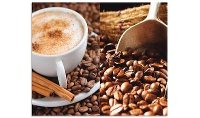 "Artland Küchenrückwand ""Kaffee  -  Cappuccino  -  Heißer Kaffee"", (1 - tlg.) kaufen"