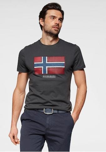 Napapijri T-Shirt, mit großem Logofrontprint kaufen