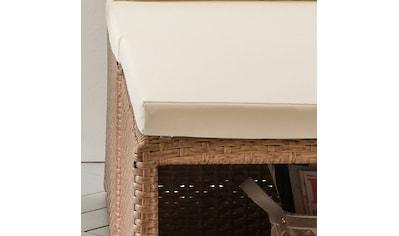 DESTINY Gartenmöbelset »Loft«, 3 - tlg., Bank, Hocker, Tisch 56x56 cm, Polyrattan kaufen