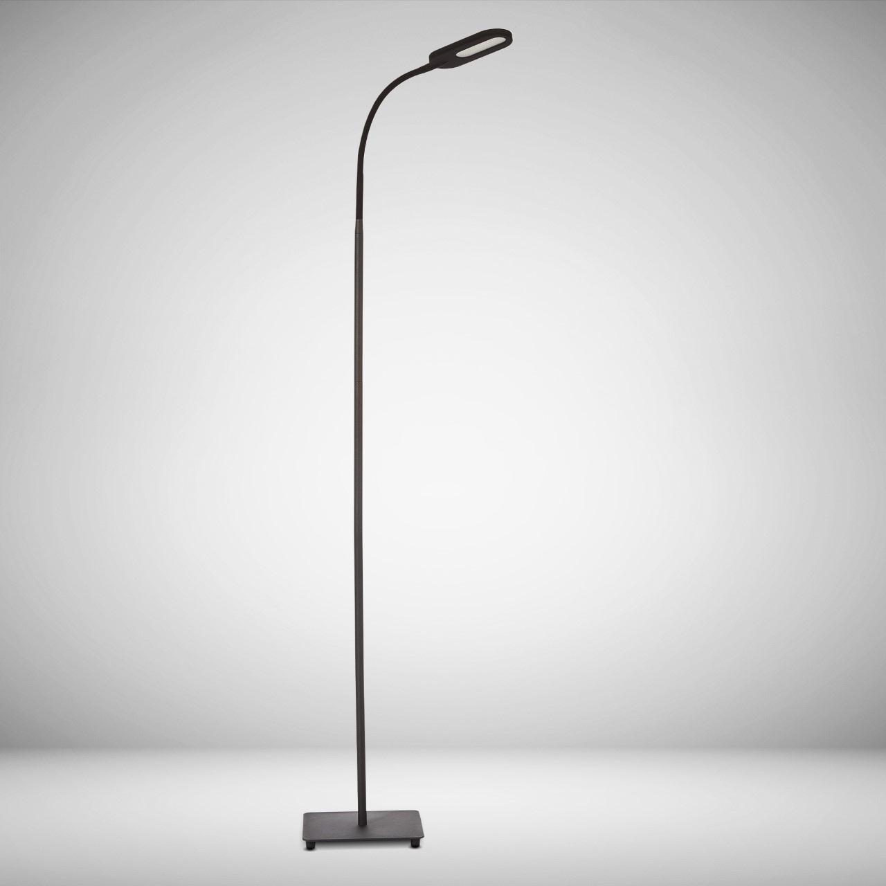 B.K.Licht LED Stehlampe, LED-Board, Warmweiß-Neutralweiß-Kaltweiß, LED Stehleuchte dimmbar schwenkbar Memory & Touch Funktion inkl. 8W 600lm
