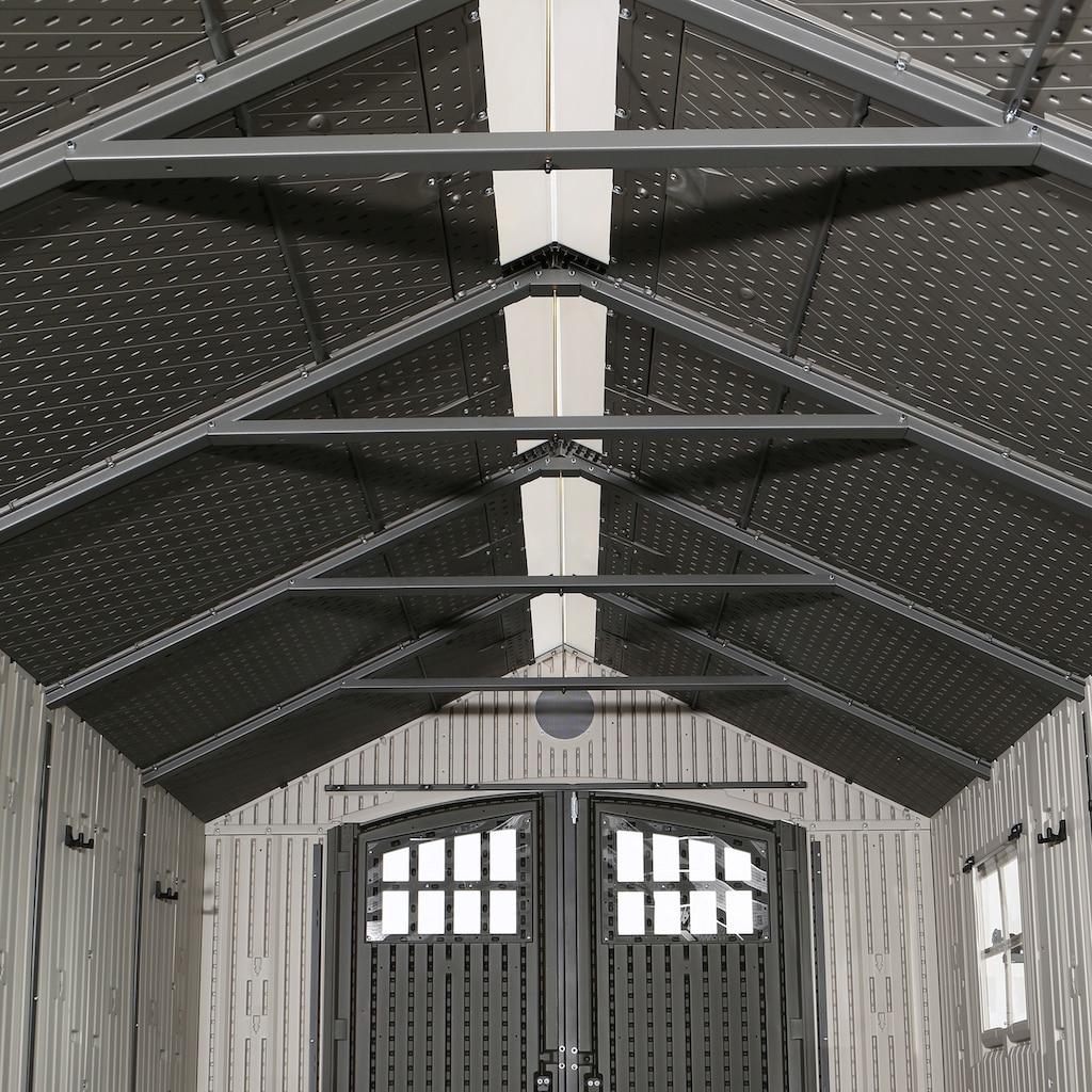 Lifetime Gerätehaus »Chateau«, inkl. Fußboden, Regale und Werkzeugtasche