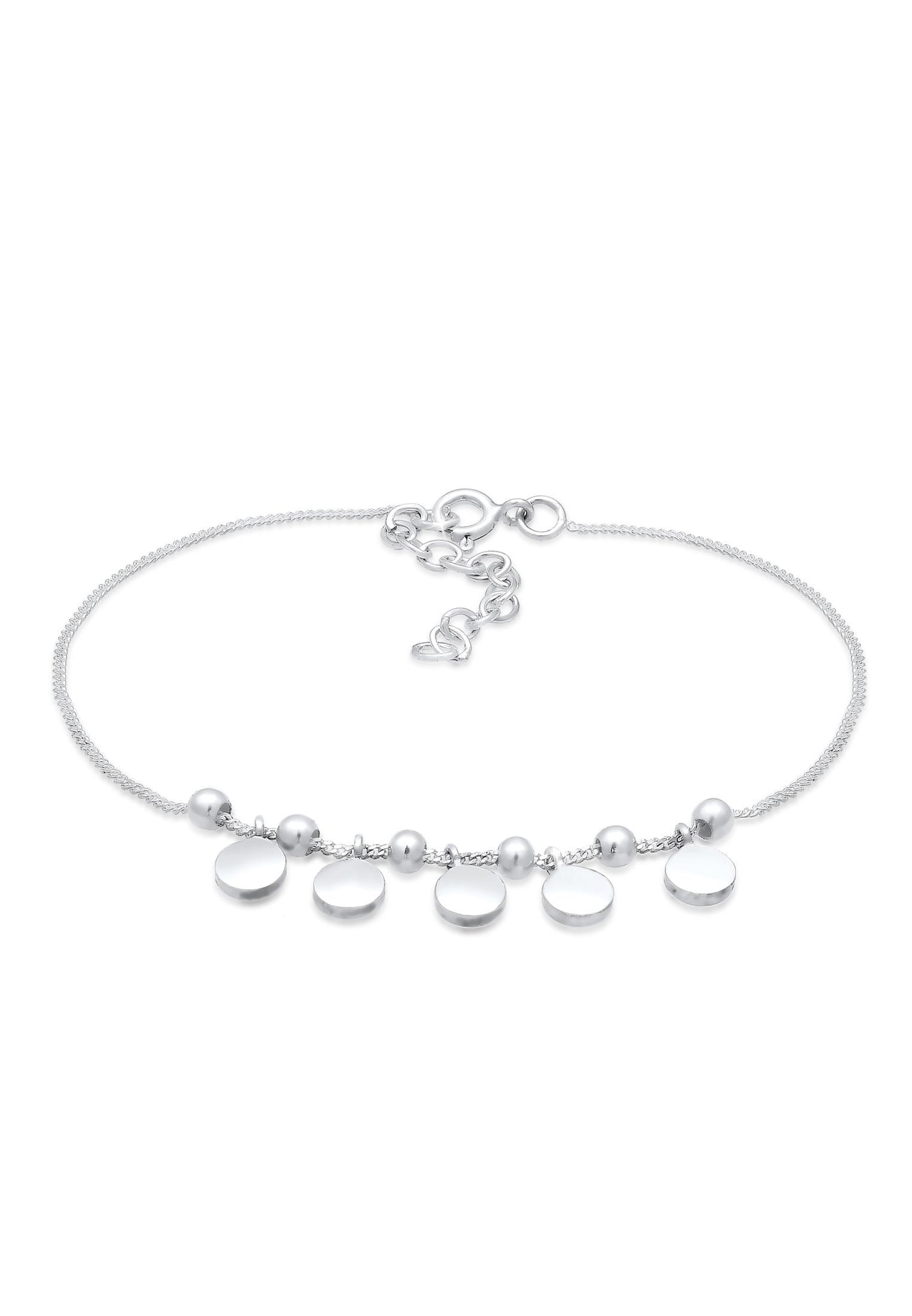 Elli Armband Geo Kugeln Plättchen Trend Cool Modern 925 Silber   Schmuck > Armbänder > Silberarmbänder   Elli