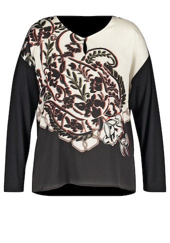 Samoon Langarmshirt »Blusenshirt mit Pailseymuster« kaufen