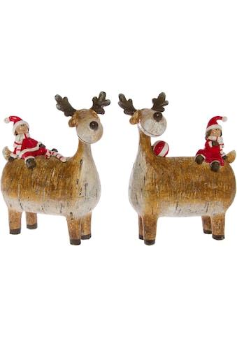 Weihnachtsfigur »Rentiere mit Wichtel« kaufen