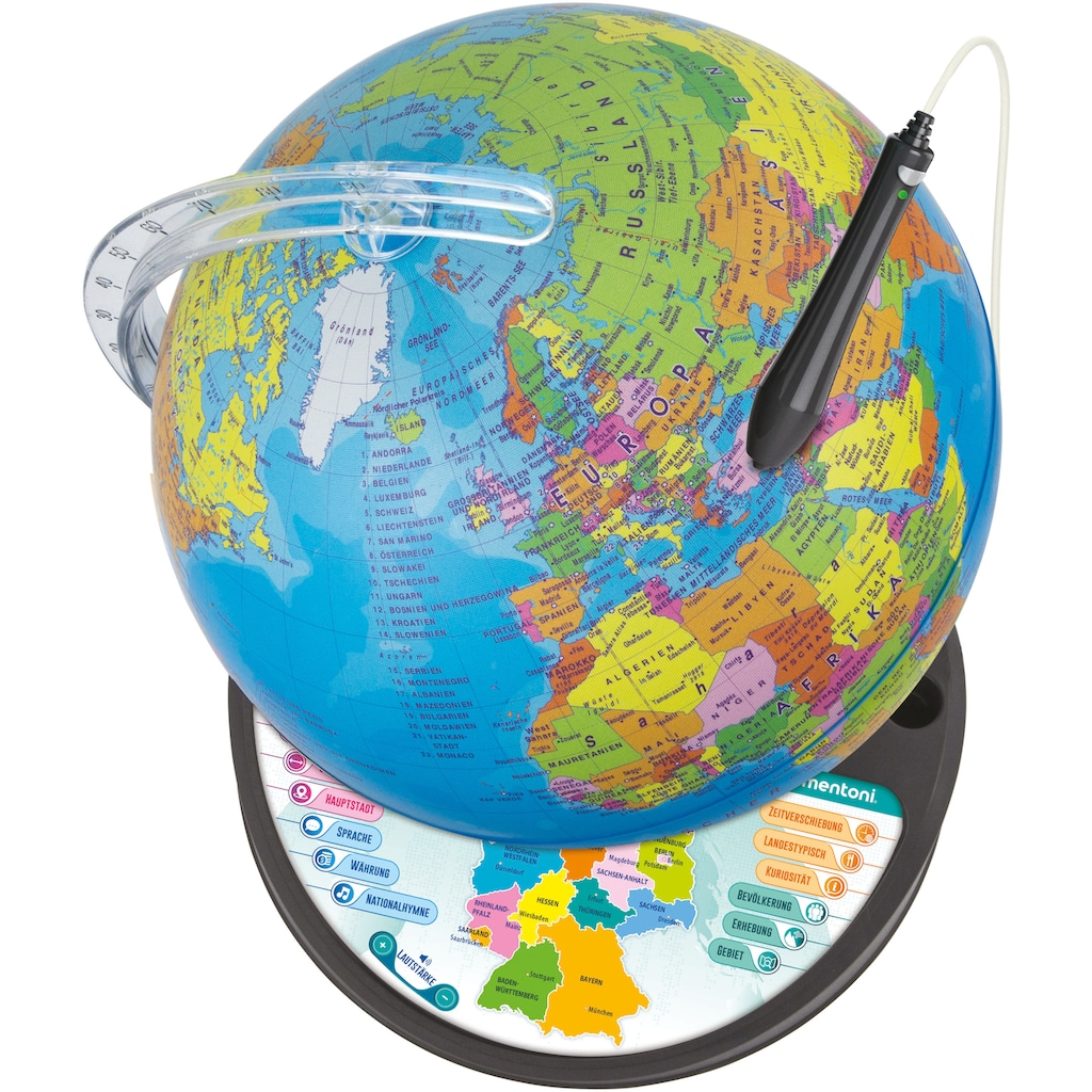 Clementoni® Globus »Galileo - Interaktiver Leucht-Globus«, Made in Europe