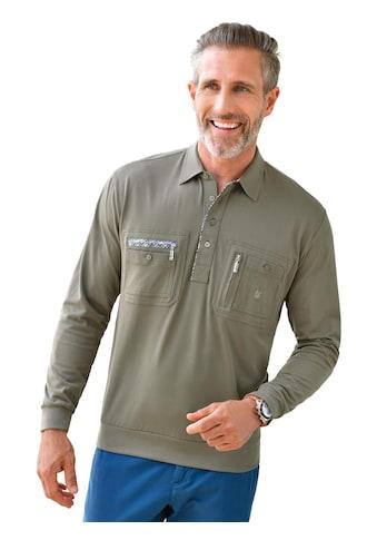 Langarm - Poloshirt mit kurzer Knopfleiste kaufen