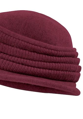 Seeberger Mütze mit gerafften Strickeinsätzen kaufen
