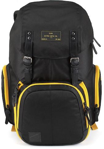 NITRO Laptoprucksack »Weekender, Golden Black« kaufen