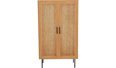 my home Highboard »Ailis«, Türen mit Einsatz aus Rattangeflecht kaufen