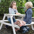 Roba® Kindersitzgruppe »Picknick for 4 Outdoor Deluxe, Grau« (Set, 1-tlg)